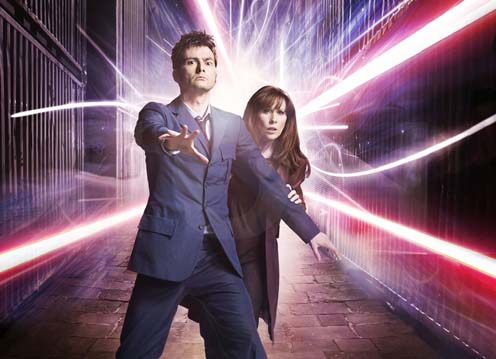 The Tenth Doctor and series 4's non-crushing companion Donna Noble.