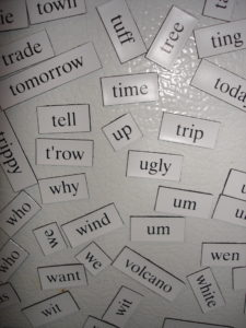 words on fridge