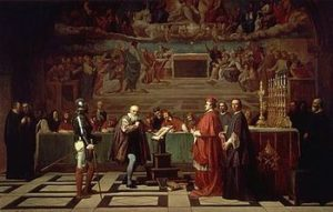 Galileo before the Holy Office, a 19th-century painting by Joseph-Nicolas Robert-Fleury