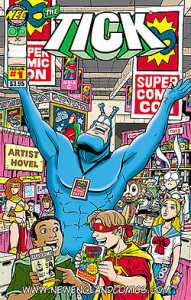 The Tick loves comics conventions.