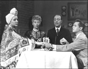 """One episode of the classic sitcom """"I Love Lucy"""" portrays a divination-seeking séance for laughs."""