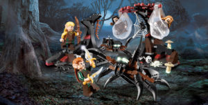 """Remember in the book when Legolas and """"Tauriel"""" actually fought the spiders? (This prematurely made and marketed Lego playset was released last year.)"""
