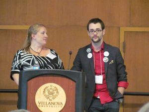 Splickety's Avily Jerome and Ben Wolf at the 2014 Realm Makers Conference
