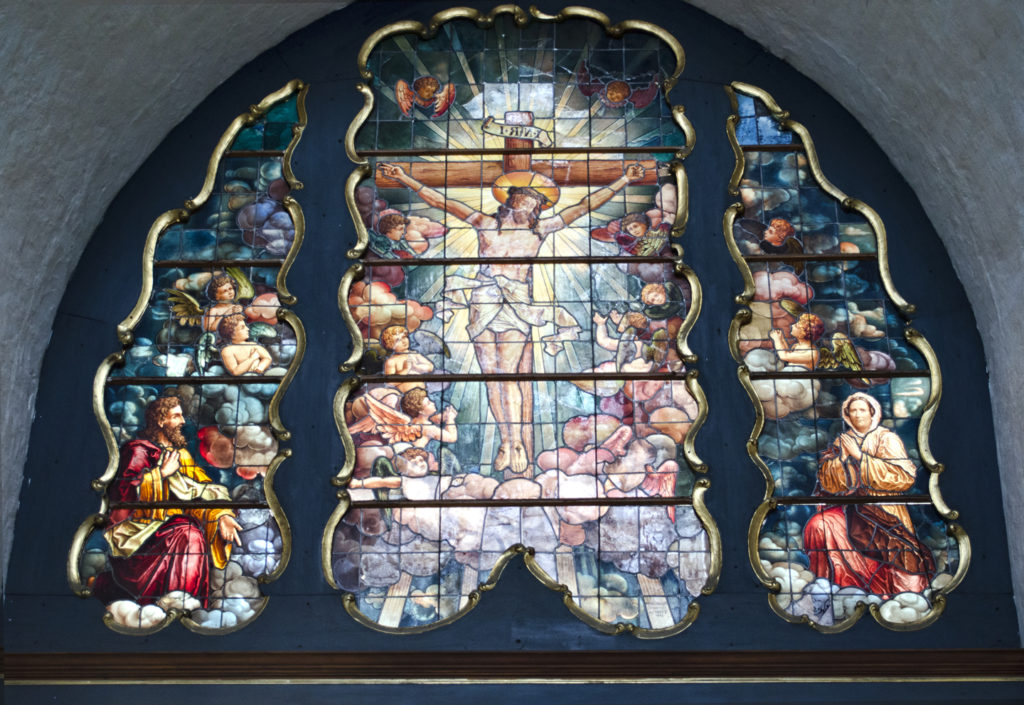 Old churches still show epic stained-glass artworks of the most fantastical Story of all. (Image credit: RGBStock)
