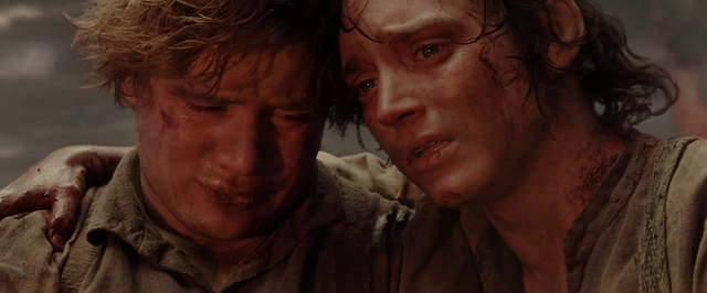 Frodo and Sam On Mt. Doom