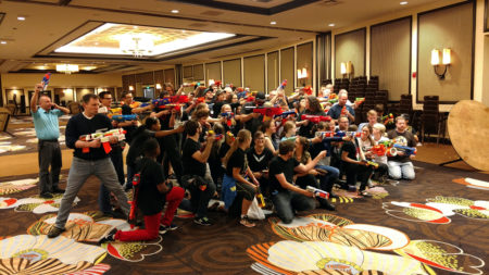 Realm Makers 2017 guests could worship God through play during the conference's Saturday night Nerf war.