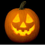 Shooting At Halloween Pumpkins