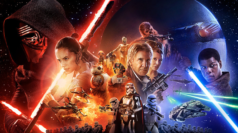 """Star Wars Episode VII: The Force Awakens"" banner"