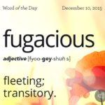 Fame Is Fugacious