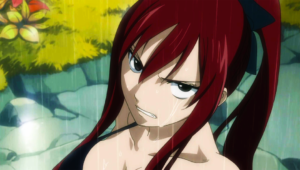 Erza just caught fans leering. Wouldn't this ordinarily make them enemies of Fairy Tail?