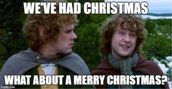 Merry and Pippin Merry Christmas Meme